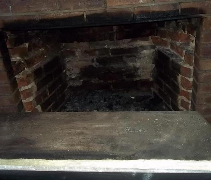 Fire Place Clean Up Before